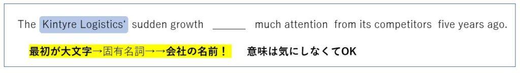 TOEIC 固有名詞